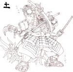 ambiguous_gender armor arthropod blades centipede four_arms helmet insect monochrome multi_limb multiple_arms muscles nezumi samurai sword translated weapon   Rating: Safe  Score: 5  User: Ko-san  Date: May 21, 2013
