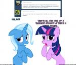 bottle confusion english_text equine female female/female friendship_is_magic genie hair horn mammal my_little_pony navitaserussirus open_mouth plain_background text tongue trixie_(mlp) tumblr twilight_sparkle_(mlp) two_tone_hair unicorn white_background   Rating: Safe  Score: -1  User: darknessRising  Date: January 10, 2014
