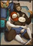 anal anal_penetration balls bear bulge duo eating food hat kamui_(artist) male male/male mammal penetration pizza sex size_difference small_dom_big_sub vpl willy_(artdecade)   Rating: Explicit  Score: 14  User: Pokelova  Date: December 20, 2014