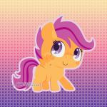 1:1 chibi cute dotted_background equine feathered_wings feathers female friendship_is_magic gradient_background happy horse looking_at_viewer low_res mammal miss-glitter_(artist) my_little_pony orange_feathers pattern_background pegasus pony scootaloo_(mlp) simple_background smile solo wings  Rating: Safe Score: 3 User: SwiperTheFox Date: April 08, 2016