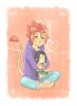 <3 amber_eyes anthro blush clothing feline kyouji_(morenatsu) lion male mammal morenatsu puppet simple_background solo soutarou_(morenatsu)  Rating: Safe Score: 0 User: Kod Date: August 26, 2015