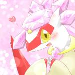 2014 <3 abstract_background blush claws clothing diancie dragon dress female feral hi_res latias legendary_pokémon looking_at_viewer nintendo open_mouth pokémon princess rathikyou royalty scalie smile solo tongue video_games wings yellow_eyes   Rating: Safe  Score: 4  User: N7  Date: March 20, 2015