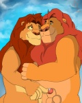 anthro balls cloudscape cum disney duo feline glans hybrid_penis lion male male/male mammal mufasa outside penis penis_tip rulion sheath simba sky the_lion_king   Rating: Explicit  Score: 4  User: Sawyer1  Date: February 18, 2015