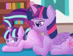 2015 absurd_res anus ass_up bookshelf butt crying cub cunnilingus cutie_mark digital_media_(artwork) dock duo equine feathered_wings feathers female female/female feral feral_on_feral friendship_is_magic glowing hair hi_res horn inside licking looking_back magic mammal multicolored_hair my_little_pony open_mouth oral pigtails purple_eyes pussy pussy_juice raised_tail sex sparkles starlight_glimmer_(mlp) tail_grab tears tongue tongue_out twilight_sparkle_(mlp) unicorn vaginal vsdrawfag winged_unicorn wings young  Rating: Explicit Score: 41 User: lemongrab Date: December 05, 2015