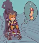 anthro balls bound child cub diaper egg_vibrator hi_res humanoid_penis mammal outside pacifier penis sex_toy skidoo species_request stroller thought_bubble vibrator young  Rating: Explicit Score: 24 User: Pokelova Date: April 26, 2016