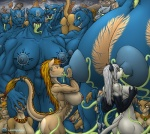 anthro big_breasts breastfeeding breasts canine chaos demon feline female female/female giant group group_sex huge_breasts hyper hyper_breasts lactating landingzone lion mammal milk muscles muscular_female naote nude orgy pussy sex size_difference slave suckling tall tentacles wide_hips wolf  Rating: Explicit Score: 21 User: malekrystal Date: December 29, 2014