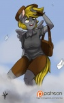 anthro anthrofied blonde_hair clothed clothing cloud derpy_hooves_(mlp) equine female fingerless_gloves friendship_is_magic fur gloves grey_fur hair half-closed_eyes horse mammal my_little_pony open_mouth outside pony smile solo teeth tongue wings xenstroke   Rating: Safe  Score: 4  User: EmoCat  Date: May 28, 2015