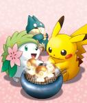 ambiguous_gender eating feral group land_shaymin legendary_pokémon mammal munchlax nintendo official_art pikachu pokémon rodent shaymin unknown_artist video_gamesRating: SafeScore: 8User: Rad_DudesmanDate: May 18, 2016