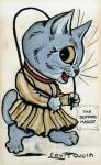 anthro cat chibi clothed clothing cute dress english_text feline female fur grey_fur holding jump_rope license_info looking_at_viewer louis_wain mammal open_mouth public_domain simple_background solo text traditional_media_(artwork) whiskers white_background  Rating: Safe Score: 0 User: purple.beastie Date: September 12, 2015
