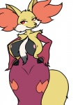 big_breasts breasts canine delphox female fox goblinguy nintendo nipple_slip pink_nipples pokémon randomboobguy red_eyes solo video_games wide_hips   Rating: Questionable  Score: 19  User: Juni221  Date: October 04, 2013