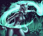 :o alolan_marowak anthro areola bone breasts drxsmokey female fire looking_away marowak navel nintendo nipples nude oddish pokémon pokémon_(species) pussy regional_variant skull solo standing video_games