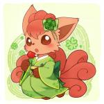 blush canine female flower fox huiro mammal nintendo plant pokémon sitting solo video_games vulpix  Rating: Safe Score: 8 User: tengger Date: June 12, 2015