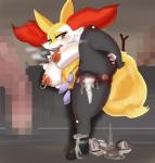 <3 <3_eyes anthro big_breasts braixen breasts canine censored chubby condom cum female fox hi_res interspecies mammal nintendo nipples penis pokémon poképhilia pussy teddy_jack tongue video_games  Rating: Explicit Score: 10 User: ads7452 Date: December 15, 2014