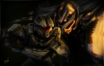 2013 alien armor claws dark_theme gun halo_(series) human icedragonhawk male master_chief night promethean promethean_knight ranged_weapon signature spartan standing video_games weapon   Rating: Safe  Score: 13  User: slyroon  Date: April 20, 2013