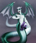 4_balls anthro balls corruption_of_champions diphallism fish forked_tongue frenum_ladder frenum_piercing genital_piercing gills green_eyes green_scales hair horn hybrid long_tongue male marine membranous_wings multi_balls multi_penis naga ninjakitty nipples open_mouth penis penis_piercing piercing purple_penis purple_scales shark silver_hair solo tongue tongue_out white_hair white_scales wings   Rating: Explicit  Score: 8  User: Hobgoblin  Date: November 02, 2013