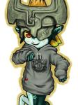 blush clothing fangs female imp looking_at_viewer midna nintendo red_eyes solo sweater the_legend_of_zelda twilight_princess video_games  Rating: Safe Score: 7 User: Juni221 Date: June 27, 2015""