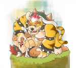 anthro bowser cum duo finger_in_mouth koopa licking_cum lowemond male male/male mario_bros meowser nintendo on_top penis scalie spiked_bracelet video_games  Rating: Explicit Score: 14 User: ruina Date: August 15, 2014