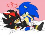 anal anal_penetration angelofhapiness balls bed cloves cum cum_in_ass cum_inside duo green_eyes half-closed_eyes inside issy2610 lying male male/male on_back penetration penis red_eyes sex shadow_the_hedgehog sonic_(series) sonic_the_hedgehog sweat  Rating: Explicit Score: 3 User: zqyva Date: April 18, 2016