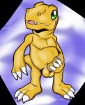 agumon anthro balls digimon dinosaur dripping front_view hi_res holding_penis humanoid_penis hunterstirling looking_away male nude open_mouth partially_retracted_foreskin penis precum scalie solo uncut  Rating: Explicit Score: 5 User: Circeus Date: December 29, 2015