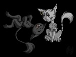 alice_in_wonderland alpha_channel ambiguous_gender blizzard_(artist) cat cheshire_cat chibi duo eyes_closed feline feral hi_res mammal simple_background smile transparent_background  Rating: Safe Score: 1 User: Cannie Date: April 20, 2010
