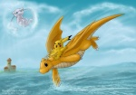 bubble cat dragon dragonite feline flying legendary_pokémon mew mouse nintendo pikachu pokémon rodent video_games wings   Rating: Safe  Score: 5  User: cookiekangaroo  Date: August 02, 2012
