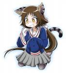 anime anthro cat clothing feline female hi_res mammal mashiro_mitsumine mikakunin_de_shinkōkei school_uniform simple_background solo transformation uniform white_background  Rating: Safe Score: 6 User: geoff34 Date: February 27, 2016