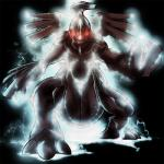 ambiguous_gender dragon legendary_pokémon lightning looking_at_viewer nintendo pokémon red_eyes scalie solo video_games yilx zekrom   Rating: Safe  Score: 3  User: DeltaFlame  Date: February 08, 2015