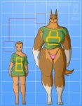 2015 anthro avoid_posting canine clothing conditional_dnp female human jollyjack looking_at_viewer mammal muscles panties size_difference underwear were werewolf wolf   Rating: Questionable  Score: 5  User: Robinebra  Date: March 02, 2015