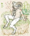 2015 anthro balls bamboo butt caprine digitigrade flaccid fur goat grass hair holidays hooves horn japanese_text looking_at_viewer male mammal new_year nude outside pan_(mythology) pan_flute penis pubes rock satyr sitting smile solo text torte uncut white_fur white_hair   Rating: Explicit  Score: 6  User: atatat  Date: May 25, 2015