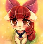 <3 apple_bloom_(mlp) blush bow crying cub cute equine female friendship_is_magic horse lumineko mammal my_little_pony pony solo tears young  Rating: Safe Score: 10 User: lumineko Date: August 14, 2015
