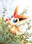 absurd_res blue_eyes cherry detailed_background food fruit hi_res legendary_pokémon nintendo outside pokémon pridark sky solo victini video_gamesRating: SafeScore: 9User: MillcoreDate: August 01, 2017