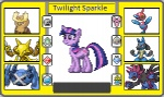 alakazam crossover cutie_mark equine female feral friendship_is_magic fur hair horn hydreigon low_res lucario mammal metagross multicolored_hair my_little_pony nintendo noctowl pokémon porygon-z purple_fur thewalrusclown trainer_card twilight_sparkle_(mlp) video_games   Rating: Safe  Score: 2  User: darknessRising  Date: August 27, 2013