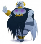 anthro anthrofied big_breasts blush breasts cleavage clothed clothing da_goddamn_batguy equine female friendship_is_magic mammal morbidly_obese my_little_pony overweight solo zebra zecora_(mlp)   Rating: Questionable  Score: 6  User: ErosThanatos  Date: July 15, 2013
