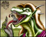 2003 anthro armor brown_hair claws clothed clothing digital_media_(artwork) dragon drooling ear_piercing female green_scales hair horn human imminent_vore long_hair male mammal markie open_mouth orange_eyes outside piercing saliva scalie sharp_teeth size_difference slit_pupils teeth tongue tongue_out vore white_scales   Rating: Questionable  Score: -1  User: GameManiac  Date: April 02, 2015