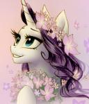 2015 blue_eyes equine female feral flower friendship_is_magic hair horn katputze long_hair mammal my_little_pony plain_background plant purple_background purple_hair rarity_(mlp) smile solo unicorn   Rating: Safe  Score: 13  User: lemongrab  Date: February 11, 2015