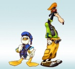 anthro avian bird bunetheburtango canine dog dolan duck duo gooby hat hi_res kingdom_hearts male mammal square_enix video_games