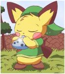 anthro biped black_fur blush cosplay costume crossover eyebrows eyes_closed fur grass link male music musical_instrument nintendo ocarina ocarina_of_time outside pichu pichu90 pokémon sky solo sparks standing the_legend_of_zelda tree video_games wall yellow_fur  Rating: Safe Score: 21 User: stickypaws Date: April 13, 2014