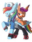 blue_feathers blue_fur collar crossover cub duo equine feathers female friendship_is_magic fur hair hat hi_res ibsn mammal multicolored_hair multicolored_tail my_little_pony nintendo pegasus pokémon rainbow_dash_(mlp) rainbow_hair rainbow_tail scootaloo_(mlp) video_games wings young  Rating: Safe Score: 5 User: IBSN Date: November 13, 2015