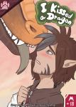 2015 blush brown_hair clothing comic cover cover_page digital_media_(artwork) dragon duo elik female furrycandyshop green_scales hair humanoid interspecies ivyora male markings orange_scales saliva sharp_teeth simple_background teeth text title_page tongue tongue_out  Rating: Questionable Score: 14 User: Furrycandyshop Date: June 21, 2015