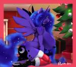 2015 absurd_res anatomically_correct anatomically_correct_penis animal_genitalia anthro anthrofied big_breasts blue_eyes blue_hair blue_skin breasts christmas christmas_lights christmas_tree cutie_mark dickgirl digital_media_(artwork) equine friendship_is_magic gift hair hair_over_eyes hi_res holidays horn horsecock huge_breasts inside intersex kneeling long_hair looking_at_viewer mammal my_little_pony nipples penis plankboy princess_luna_(mlp) solo tree winged_unicorn wings   Rating: Explicit  Score: 10  User: lemongrab  Date: January 29, 2015