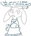 anthro cave_story clothing female lagomorph looking_at_viewer mammal mimiga monochrome scar solo sue_sakamoto sweater the_weaver video_games   Rating: Safe  Score: 13  User: Juni221  Date: December 26, 2014
