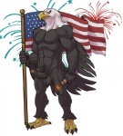 2015 4th_of_july abs anthro avian badcoyote bald_eagle balls beak biceps bird brown_feathers claws eagle erection feathered_wings feathers firecracker fireworks flag front_view humanoid_penis male muscular nipples nude partially_retracted_foreskin pecs penis simple_background solo standing stars_and_stripes talons toe_claws toned uncut united_states_of_america vein wings yellow_sclera  Rating: Explicit Score: 22 User: TuttiFrutti Date: July 04, 2015