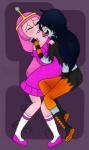 adventure_time biting_lip blush candy_creature clothed clothing duo female female/female humanoid interspecies licking marceline panddie princess princess_bubblegum royalty tongue tongue_out vampire   Rating: Safe  Score: -1  User: Sods  Date: April 20, 2013