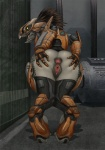 2015 alien anthro anus armor butt clitoris da_polar_inc female gaping gaping_anus halo_(series) kig-yar looking_back open_mouth presenting presenting_hindquarters pussy reptile scalie skirmisher solo spread_anus spread_pussy spreading video_games  Rating: Explicit Score: 113 User: Sneaky Date: December 15, 2015