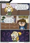? animal_crossing animal_crossing:_new_leaf anthro canine comic dialogue dog english_text female hejibits human isabelle_(animal_crossing) john_kleckner male mammal nintendo text video_games   Rating: Safe  Score: 21  User: Juni221  Date: November 19, 2013