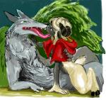 canine caprine claws duo female horn kigouneko kissing larger_male little_red_riding_hood little_red_riding_hood_(copyright) male male/female mammal nude size_difference smaller_female tongue wolf  Rating: Questionable Score: 5 User: choen Date: June 24, 2014