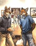 2016 anthro canine clothed clothing duo feline fox fur hi_res kenket male mammal rukis tiger  Rating: Safe Score: 16 User: *Sellon* Date: March 15, 2016