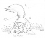 2011 ambiguous_gender ass_up avoid_posting canine conditional_dnp eyes_closed falling_leaves feral fluffy_tail fox grass greyscale inner_ear_fluff lying male mammal monochrome on_front pointy_ears scared sketch solo tani_da_real wind  Rating: Safe Score: 35 User: TonyLemur Date: May 27, 2011