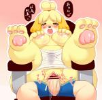 animal_crossing anthro blush breasts canine censored dog female human human_on_anthro interspecies isabelle_(animal_crossing) japanese_text kemono mammal nintendo nipples open_mouth penis pussy pussy_juice sex shocked text translated video_games 河原砂利助  Rating: Explicit Score: 9 User: KemonoLover96 Date: June 14, 2015""