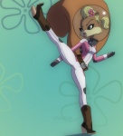 anthro ch3che clothed clothing female hi_res karate kick mammal nickelodeon rodent sandy_cheeks solo spongebob_squarepants squirrel  Rating: Safe Score: 12 User: Sods Date: March 21, 2013